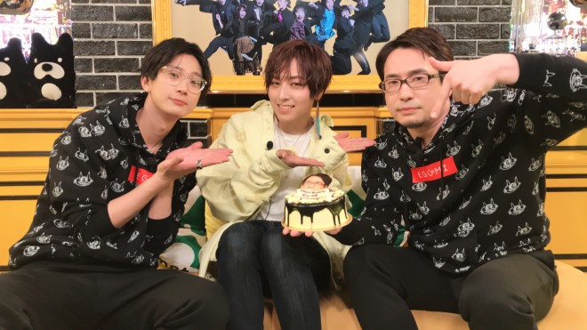 (左から)江口、蒼井、誕生日を祝われた安元(C)ABEMA,Inc.