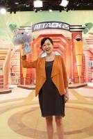 産休・育休に入る直前の加藤明子アナ(2013年)