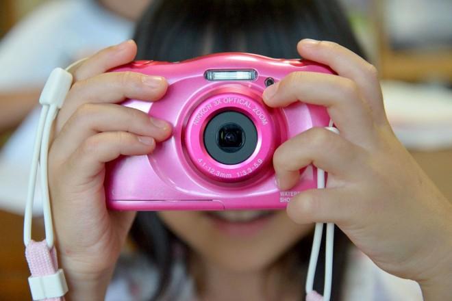 ピンクのマイカメラ