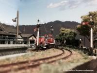 渓上里駅に入線するDE-10