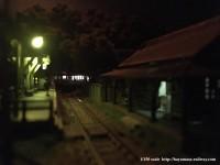 上里駅の風景・夜
