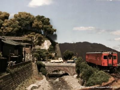 加茂野橋とキハ52 制作・画像提供/はやまさ鉄道
