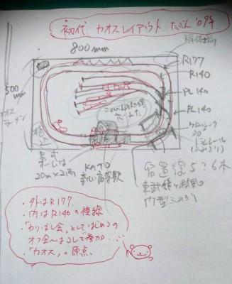 初代レイアウトのメモ  制作・画像提供/kaoden