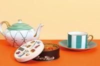 キッチン缶「楽しいお菓子作りを連想させるヴィンテージイラスト。」