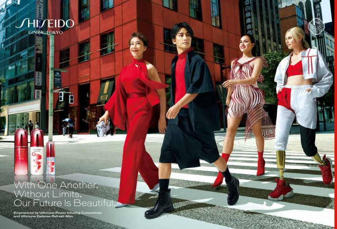 SHISEIDOグローバルキャンペーンのアンバサダーに就任した前田美波里ら