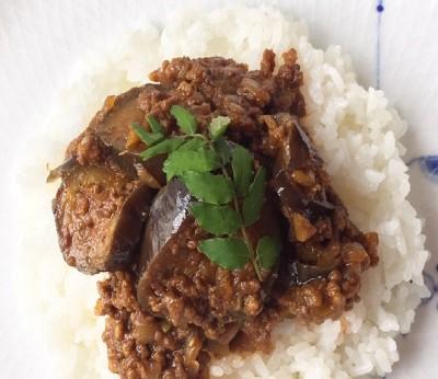 『家事ヤロウ!!!』(テレビ朝日系)で披露した「ナスとひき肉のキーマカレー」