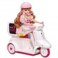 デリバリー遊びが楽しめる『リカちゃんイーツ おとどけスクーター』※人形、ドレス別売り(税抜5300円)