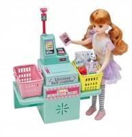セルフレジで商品をスキャンし、キャッシュレス決済
