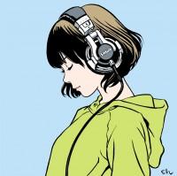 江口寿史『RECORD』(河出書房新社)より Shiggy Jr.『LISTEN TO THE MUSIC』ジャケットイラスト(C)江口寿史