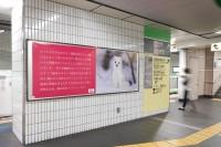 地下鉄の駅広告に登場した斬新な駅広告が話題に…