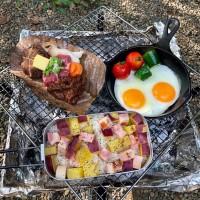 これぞキャンプ飯!野菜ブイヨンを使った『さつまいもご飯』
