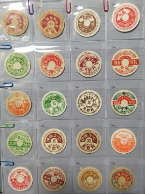 牛乳瓶キャップコレクション 画像提供/昭和レトロドリンク氏