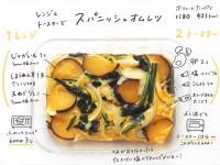 「トースターてスパニッシュオムレツ」『#おえかきレシピ』(@__mo_chi)より