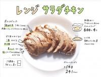 「レンジでしっとりサラダチキン」『#おえかきレシピ』(@__mo_chi)より
