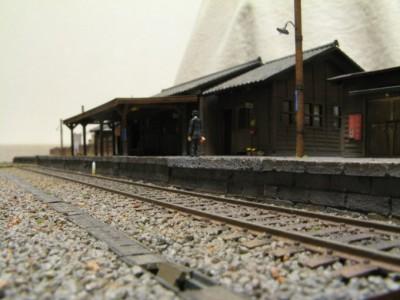 風情を感じさせる昭和の駅舎 制作・画像提供/鉄道模型に重量感を求めて氏