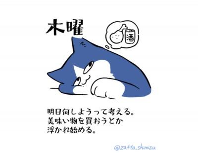 木曜「働く猫の1週間」