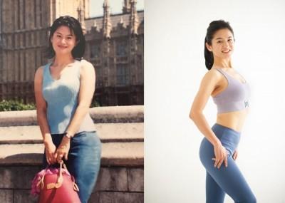 (左)今より14kg太っていたNaokoさん(右)現在のNaokoさん