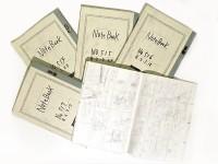 白紙のノートを8つに分割して思いついたネタを書いていき、そこに書いてあるネタを植田氏が手掛けるすべての漫画に使用している。