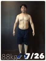 ダイエット中の市川ヒロシ氏(88キロ)