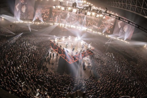 2020年1月25日-26日に行われた「METAL GALAXY WORLD TOUR IN JAPAN EXTRA SHOW」(幕張メッセ国際展示場)でパフォーマンスをするBABYMETAL