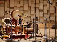 和太鼓奏者の林英哲氏とのレコーディング風景