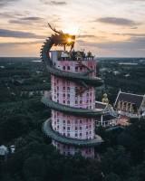 タイのお寺が「リアルドラゴンボール」!?