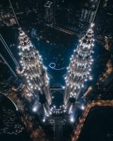 幻想的なツインタワー(マレーシア)