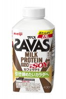 『(ザバス)MILK PROTEIN 脂肪0+SOY カフェラテ風味』(430ml、税抜155円)画像提供:明治『ザバス』