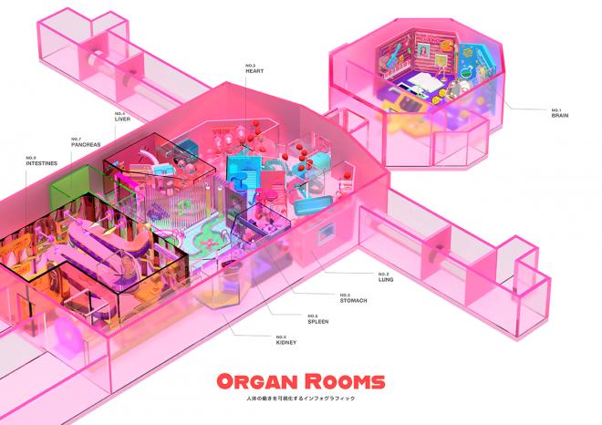 卒業制作で描いた難しい内容を面白く伝える作品「ORGAN ROOMS」 (C)イユダエマ