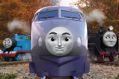 超特急のケンジ(『映画 きかんしゃトーマス おいでよ!未来の発明ショー!』より) (C)2021 Gullane(Thomas)Limited.