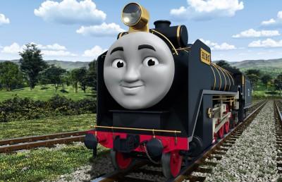日本からソドー島にやってきた機関車「ヒロ」 (C)2021 Gullane(Thomas)Limited.