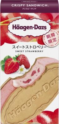 『ハーゲンダッツアイスクリーム』クリスピーサンド スイートストロベリー