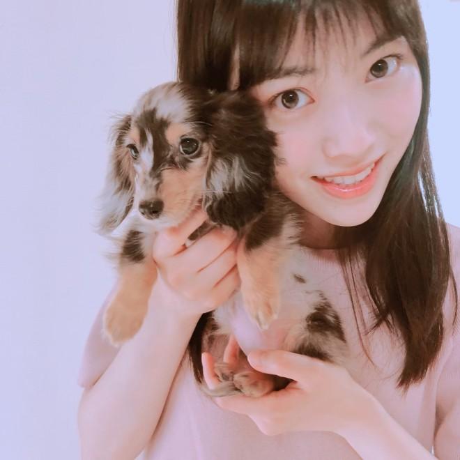 """石原夏織の愛犬""""むーちゃん"""""""