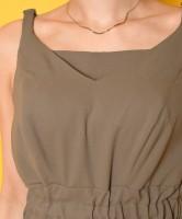 「マキシワンピース」胸当ては着脱可能