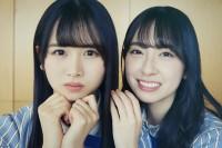 オフショット写真集『日向撮VOL.01』を発売した日向坂46(左から)上村ひなの、金村美玖