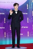 ドラマ『スタートアップ:夢の扉』でTikTok 人気賞を受賞したキム・ソンホ=『第57回 百想芸術大賞』レッドカーペット