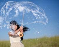 水でできた傘