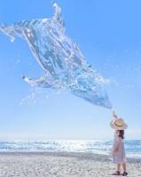 夏の青空にクジラ召喚