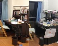 (左)Mozuさん(当時)の部屋(右)Mozuさんのミニチュア作品(画像提供:Mozuさん)