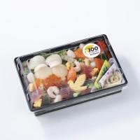 100周年記念! 帆立入り海鮮バラちらし 645円(税込)
