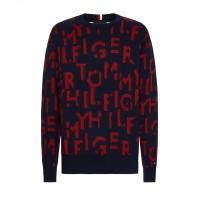 (着用アイテム)総柄セーター(color:ネイビー×レッド/税込¥19,800)