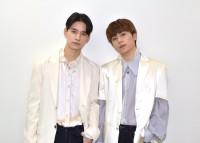 4thシングル「STRANGER」を発売したJO1(左から)佐藤景瑚、木全翔也 (C)ORICON NewS inc.