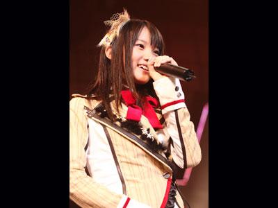 オーディションに合格したばかりの4期生から選抜メンバーに抜擢された木本花音(10月11日、東京・SHIBUYA-AX 公演)