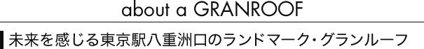 about a GRANROOF 未来を感じる東京駅八重洲口のランドマーク・グランルーフ