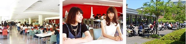 留学生もいっぱい! 学食は学生たちの交流の場
