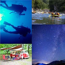 学生旅にやり残しがある大人たちが望むのは、ライン下りやキャンプ、ダイビングにお揃コーデなど、とにかく青春満載のアクティブ旅