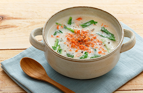 かぶと鮭のクリーミーみそスープ
