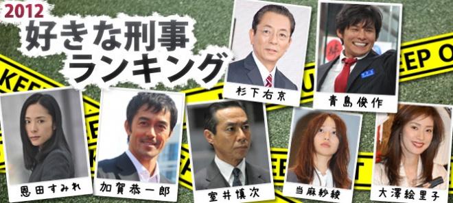 好きな刑事ランキング 2012『ド...