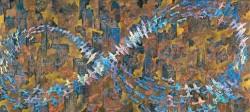 《紐育空爆之図(にゅうようくくうばくのず)(戦争画RETURNS)》1996年