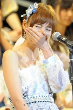 卒業を発表した5位の篠田麻里子